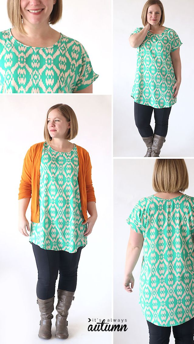 Today's Tutorial Tuesday features this super easy Breezy Tee Tunic Tutorial with FREE Sewing Pattern from Autumn Baldwin of It's Always Autumn. Perfect for sewing up in our sale specialty woven fabrics, you are sure to love your new tunic. Learn more today at blog.GirlCharlee.com
