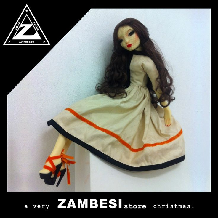 """""""an original christmas gift would be the linda farrow X pidgin muse, penelope. this doll represents beauty, strength, femininity, craftsmanship, elegance, decadence and timeless luxuries."""" - vivien, ZAMBESI tyler #zamfam. exclusively available at ZAMBESI tyler x"""
