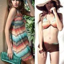 Products · 3pc Padded Womens Bikini set Cover up Swimdress Bohemian Swimwear · Fashion Stylist's Store Admin