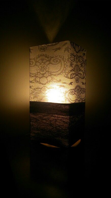 Opaque knee-high over lampshade, i love it, it's giving my old lamp a new lease on life