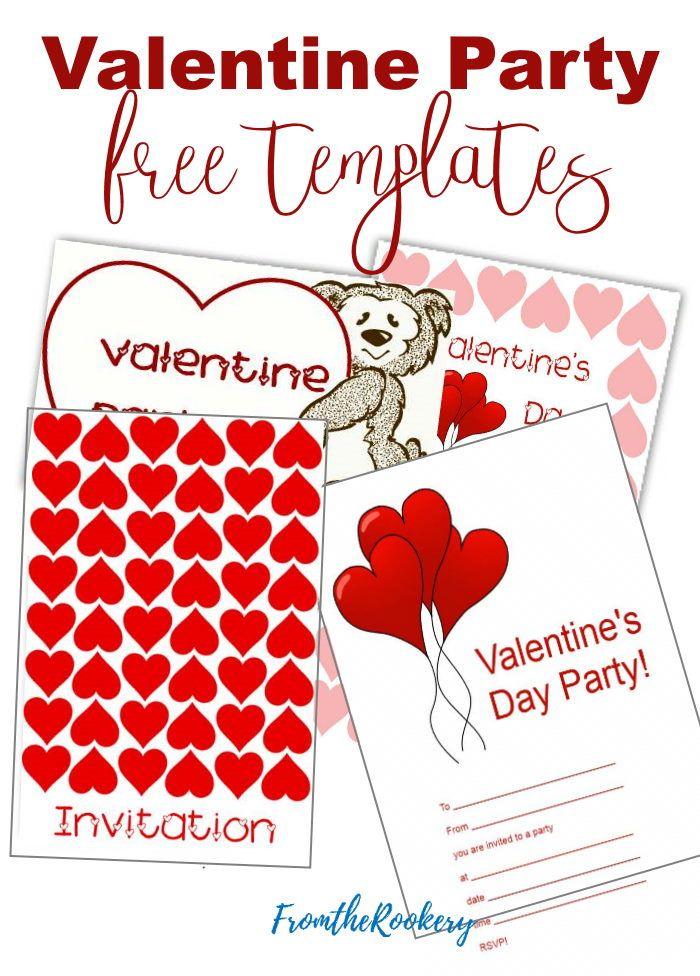 Printable Valentine Invitations Valentine Invitations Valentine Party Invitations Printable Invitations