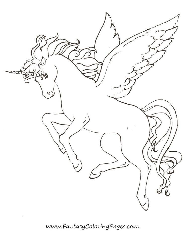 free pegasus coloring pages - photo#1