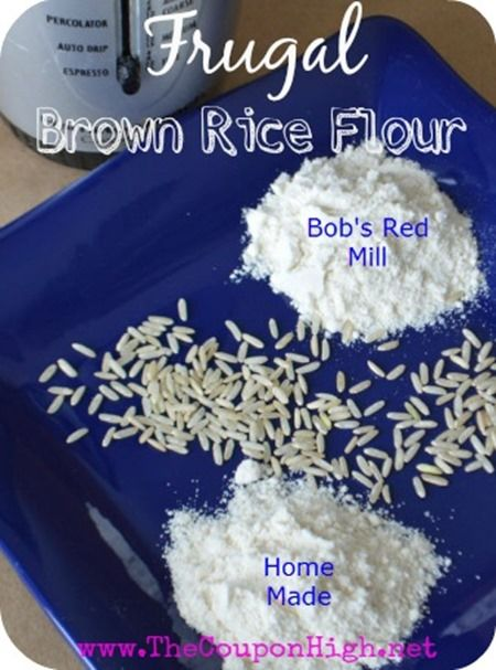 Gluten Free Money Saving Tip - Make your own Rice Flour and you don't even need an expensive Blender.