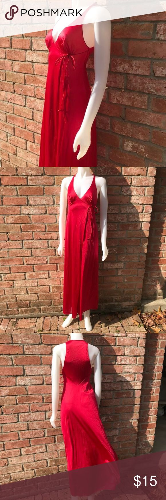 VANITY FAIR VINTAGE LINGERIE GOWN SIZE 32 All nylon made in the USA vintage retro nightgown open sized and opens all the way up with a small snap in the front under bust opens from the front toes to the side deep red in color in good vintage condition. Vanity Fair Intimates & Sleepwear #vintagelingerie