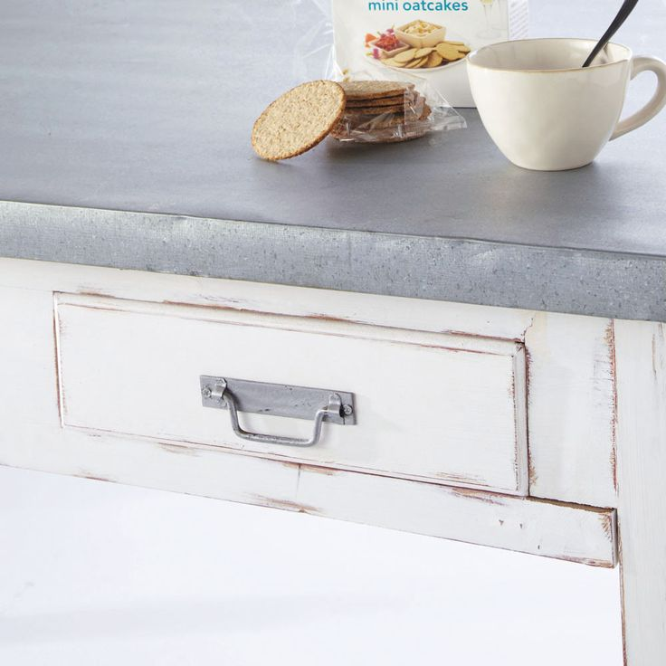 Mesa de comedor de madera gris An. 140 cm Sorgues | Maisons du Monde