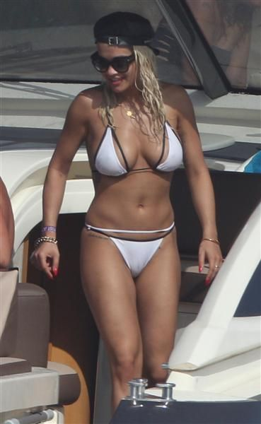 Rita Ora's bikini bod was on full display as she went boating in Formentera, Spain, on Aug. 3, 2015.