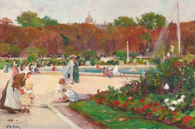 Paul-Michel Dupuy (1869-1969), Jardins du Luxembourg.