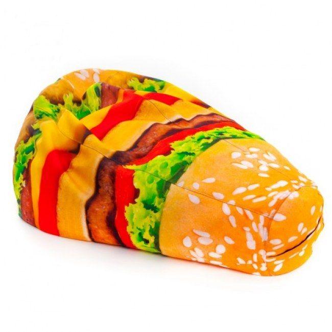 Pufa z hamburgerowym nadrukiem