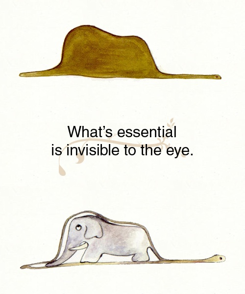 Boa constrictor eating an elephant. The Little Prince. Remember this for the play I was in way back when I was seven.