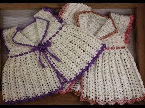 Crochet a lovely baby lace jacket (Advanced level) - YouTube