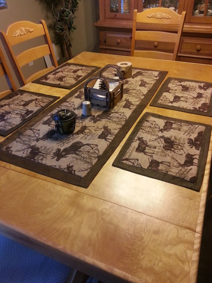 Suede And Burlap Table Runner With Placemats I Made For