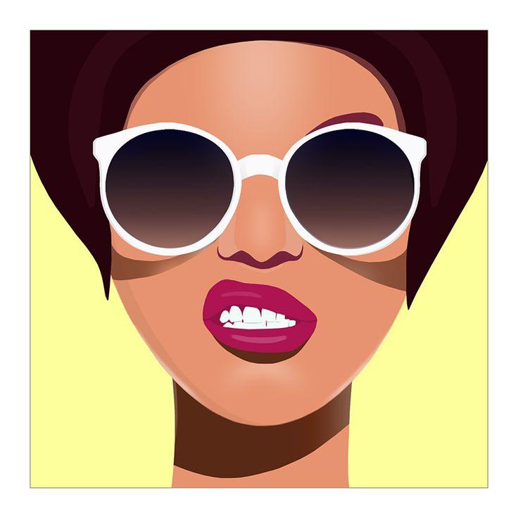 #girl #illustration #shades