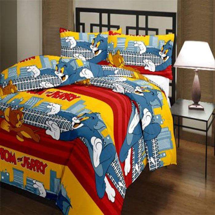 Tom and Jerry cotton bedsheets