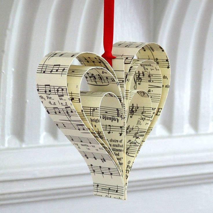 handmade vintage music christmas decoration by re:made | notonthehighstreet.com