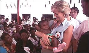 Princess Diana - She showed that the monarchy can be powerful, not only through wealth, but through action.