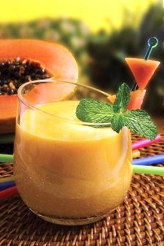 Licuado de papaya