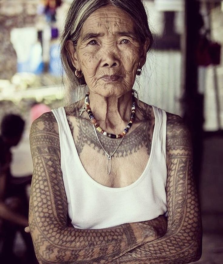 This gorgeous lady is 100 years old and is the last Kalinga tattoo artists in the Philippines. So. Rad.
