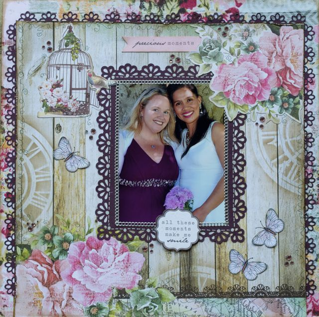 A layout by Kelly-ann Oosterbeek, made using the Oh So Lovely Collection from Kaisercraft. www.amothersart.com.au