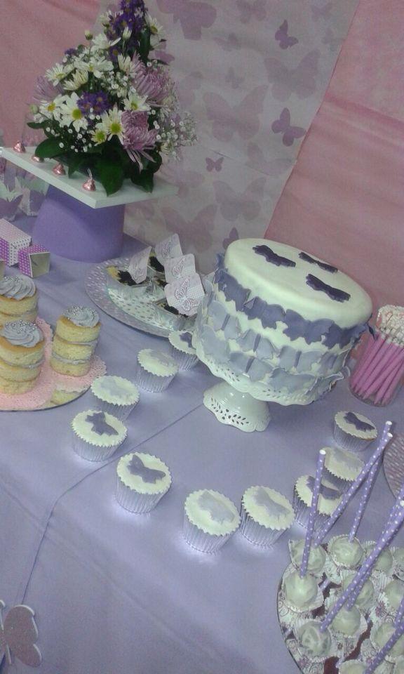 Torta y Cupcakes mariposas