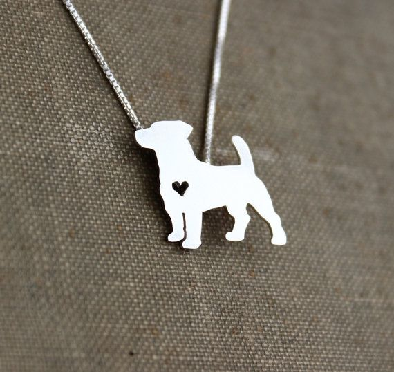 Jack Russell Terrier necklace sterling silver by JustPlainSimple
