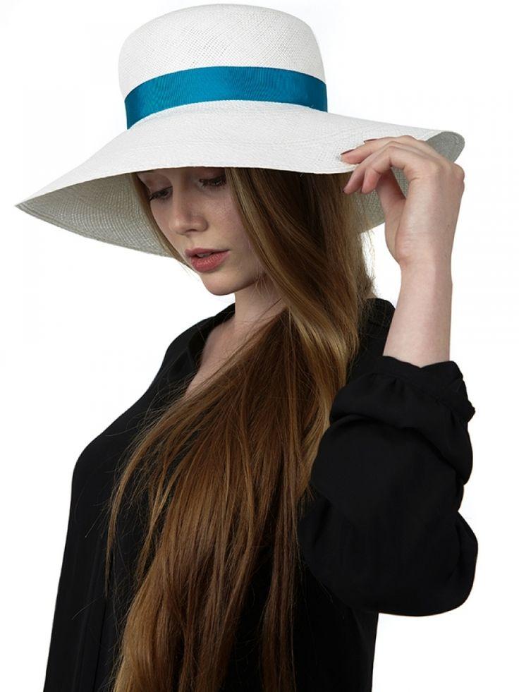 Wide-brimmed White Hat - Doria1905 - TieApart.com