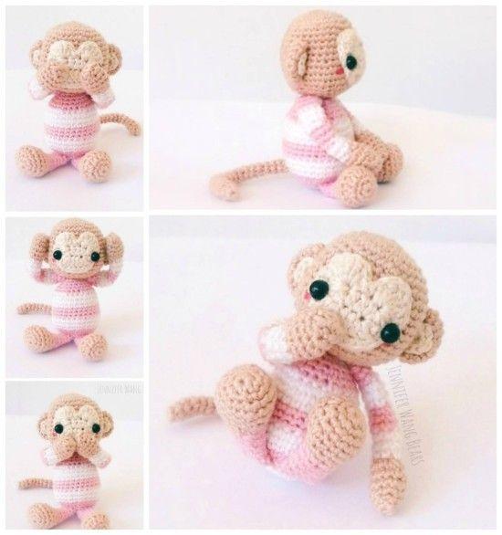 Monkey Amigurumi Knitting Pattern : 1000+ images about Knit/Crochet on Pinterest Pattern ...