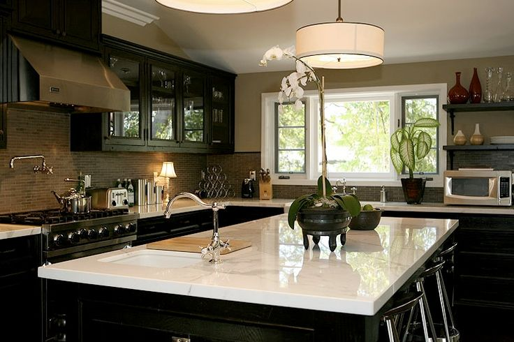 Good Jeff Lewis Design   Kitchens   Black Cabinets, Black Kitchen Cabinets,  Black Cabinets With White Marble Top, Black Kitchen Cabinets With Whi.