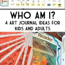 4 Who Am I Art Journal Activities to Do With Kids (and adults!)