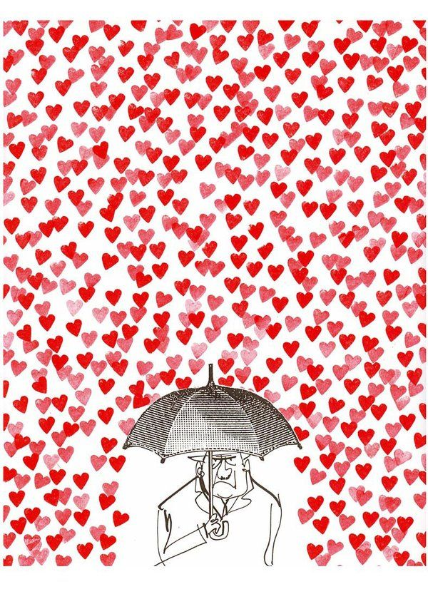 Shirley Tucker  • just now    How can you be mad when red hearts are falling from the sky...put the umbrella away and let the hearts shower down on you