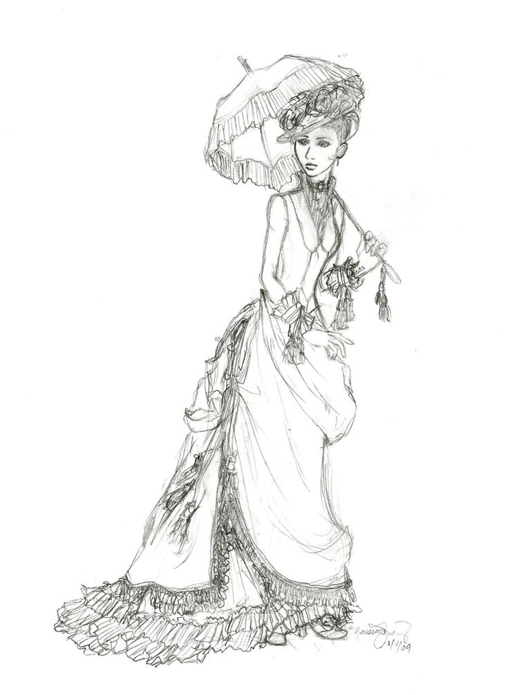 Coloring Pages of Victorian Ladies | victorian lady sketch by voracious wolf traditional art drawings other ...