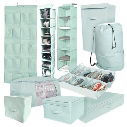 10PC Complete Dorm Organization Set - TUSK Storage - Calm Mint Dorm Storage Solutions Must Have Dorm Items Dorm Organization