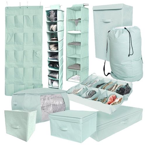 10PC Complete Dorm Organization Set - TUSK Storage - Calm Mint Dorm Storage Solutions Must Have Dorm Items Dorm Organization