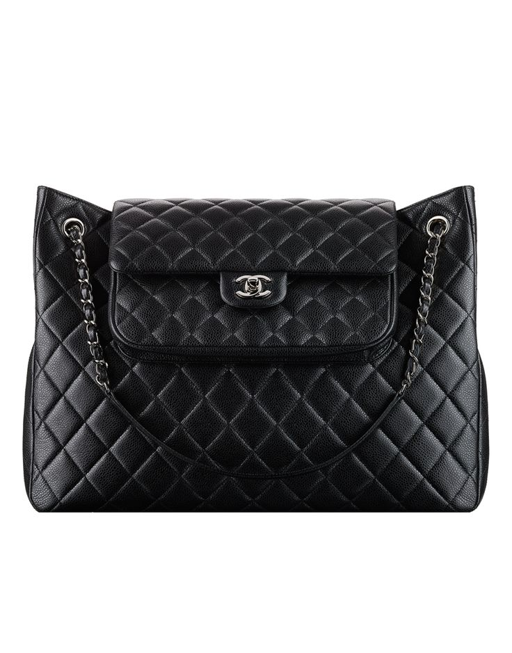 Grained calfskin shopping bag - CHANEL
