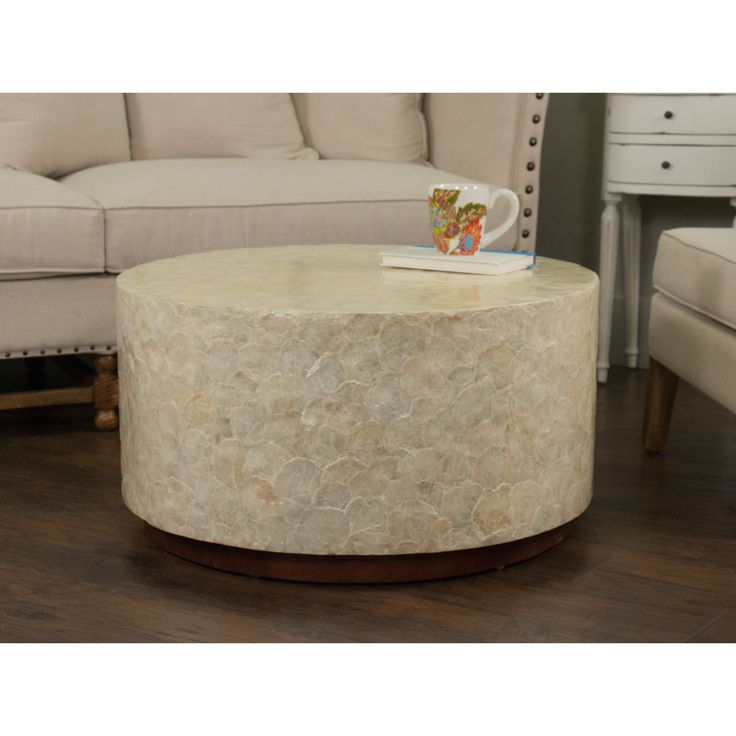 Round White Capiz Coffee Table: 17 Best Images About Great Room Tables On Pinterest