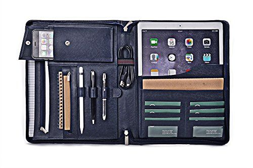 Apple iPad Pro Portfolio, Leather Organizer Case with Pockets for 12.9 inch iPad Pro,Blue iCarryAlls http://www.amazon.com/dp/B01AU5365K/ref=cm_sw_r_pi_dp_ecq4wb1CE9SG9
