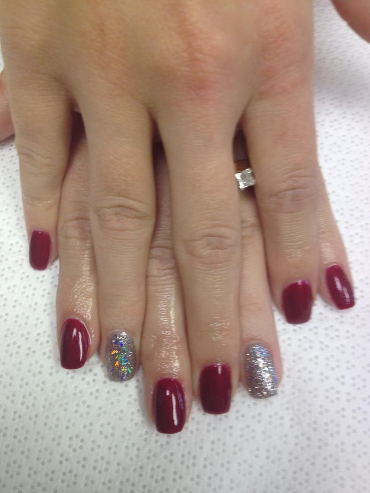 """This is """"I'm not really a waitress"""" OPI Gelcolor and the new """"Save me"""" OPI Glitter Polish! Love it!"""