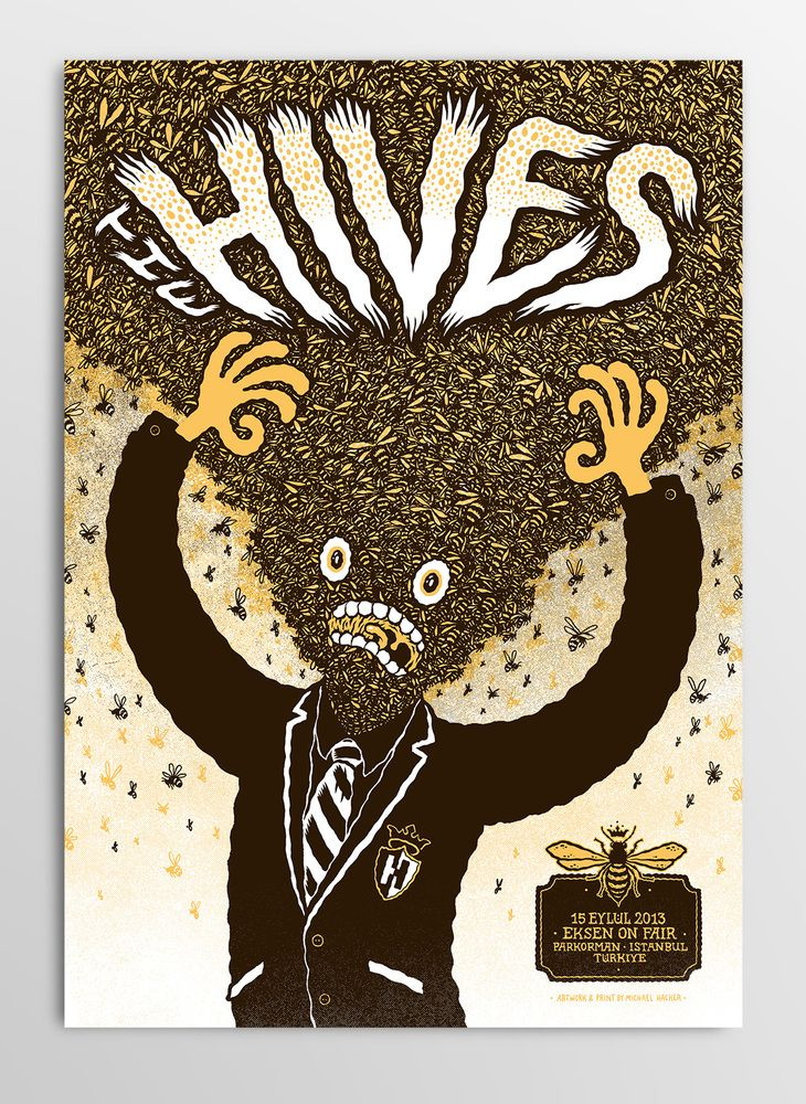 The Hives | Poster by Michael Hacker #Gig #Poster #Graphic #Design