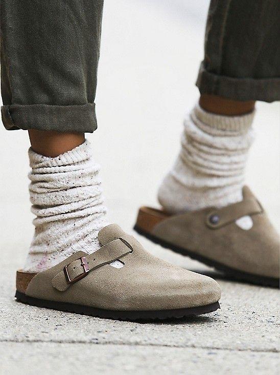 Birkenstock Boston Taupe Suede Style Inspo Fashion