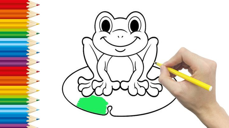 FROG Coloring page for KID and Learning How to Draw frog - Videos for children