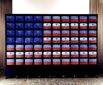 "Installation: ""Video Flag"" by Nam June Paik"