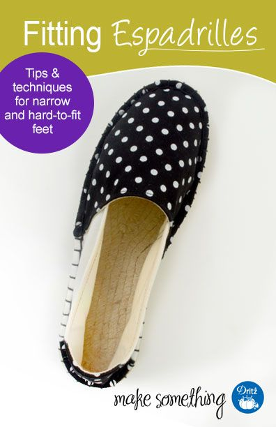 Dritz Espadrilles: Fitting Espadrilles. Learn how to make sure your DIY espadrilles have the perfect fit (tips for narrow & hard-to-fit feet). #sewing