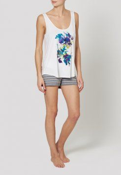 uncover by Schiesser - FESTIVAL FLOWERS MIX  - Pyjama top - clean white
