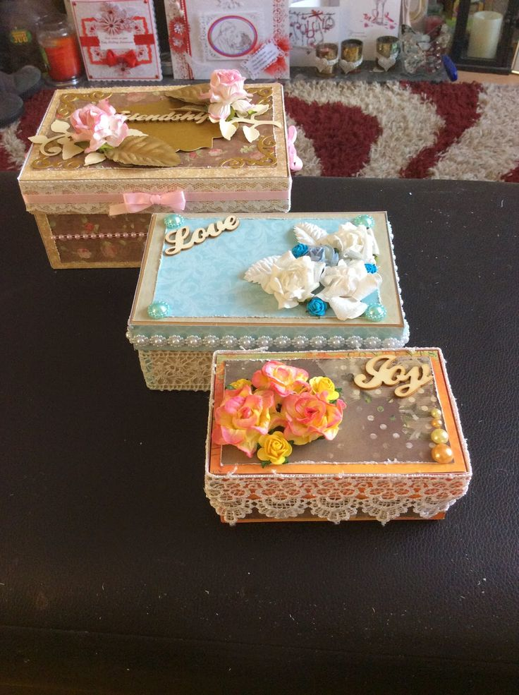 Kraftycards by Chris: Decorated boxes