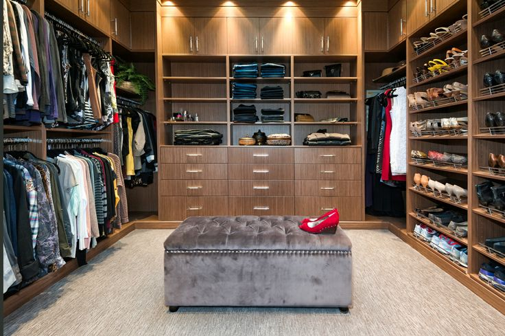 225 sq. feet of walk-in closet heaven...if you're in to that sort of thing. Design and build by Harbour City Kitchens for The Limona Group. Photographed by Nathan Philps.