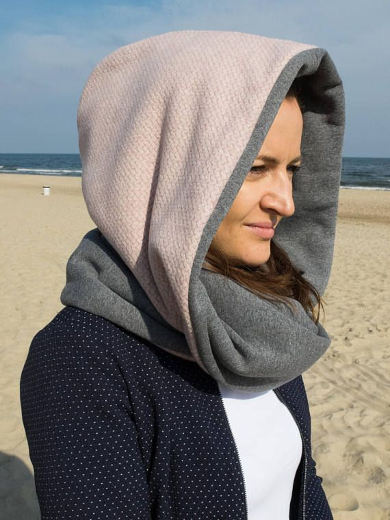 Hooded cowl hooded scarf women snood scarf winter cowl with
