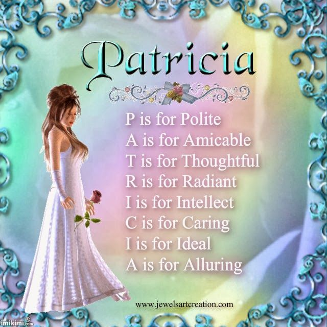 Patricia, name meaning poems, acrostic name poems