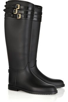 Buckled rubber boots...yes please.  I wear these things out 3 seasons out of the year, with all of the getting in and out of the car all day!  My tall ones cracked :(