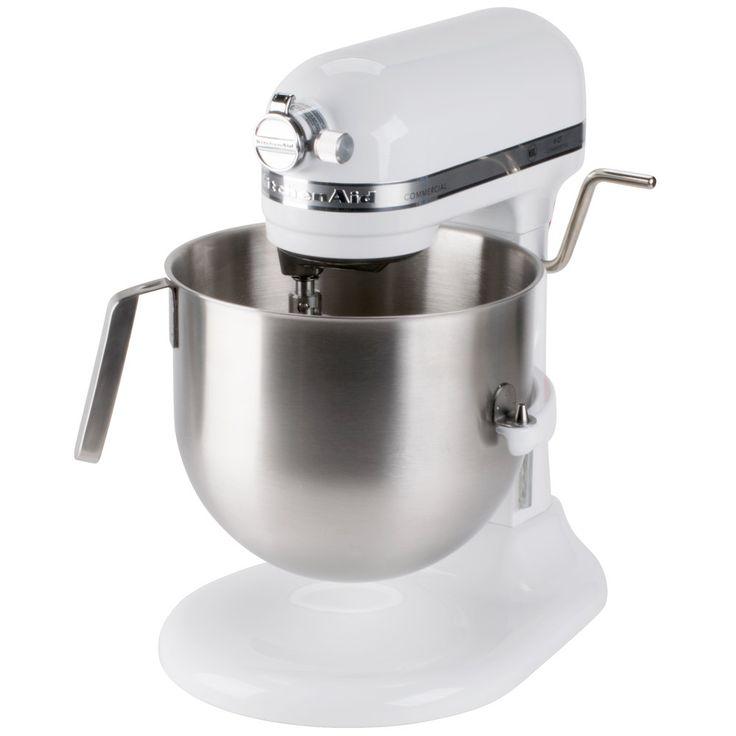KitchenAid KSM8990WH White NSF 8 Qt. Bowl Lift Commercial Stand Mixer - 120V, 1 3/10 HP