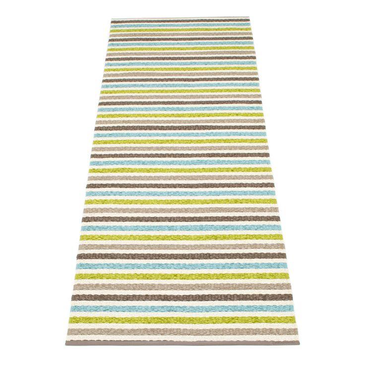 Lisa Rug 70x300, Lime, Pappelina #pappelina #rug #rugs #carpet #carpets #summer #design #royaldesign