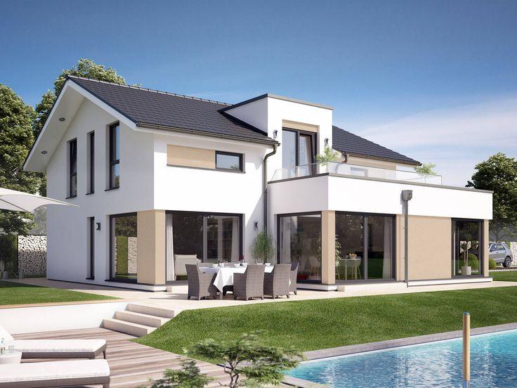 fantastic 163 v4 fertighaus von bien zenker schickes jubil ums aktionshaus mit bereck erker. Black Bedroom Furniture Sets. Home Design Ideas
